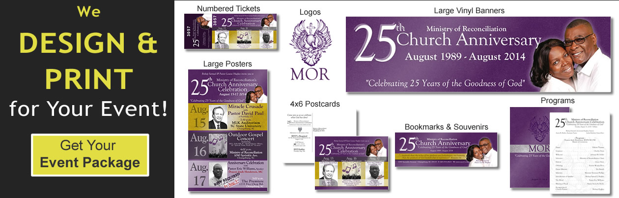 We'll Design and Print for Your Event!